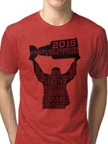 Chicago Blackhawks - 2015 Stanley Cup Champions Tri-blend T-Shirt