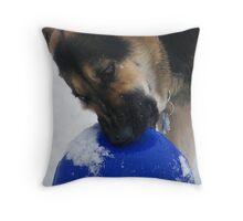 Booga and her Jolly Ball Throw Pillow
