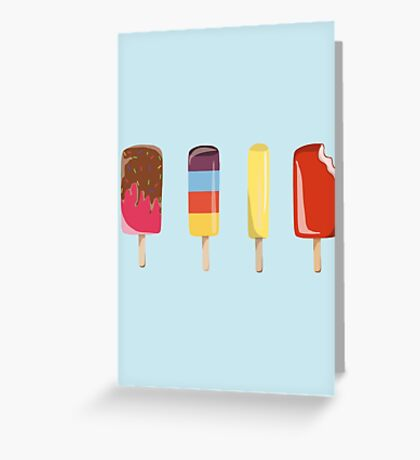 Little Ice Lollies Greeting Card