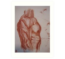 Study of Side View of Muscular Torso Art Print