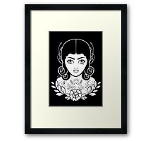 Flapper in black Framed Print