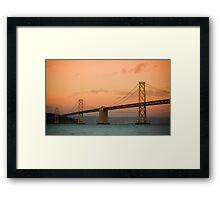 San Francisco Bay Bridge Framed Print