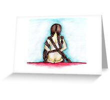 Stripped Bare. Greeting Card