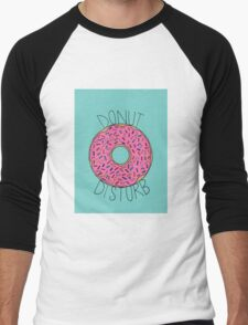 Donut Disturb Men's Baseball ¾ T-Shirt