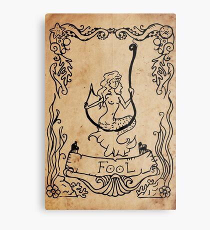 Mermaid Tarot: The Fool Metal Print