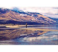 'Hooked on Reflections,' Lake Wakatipu, New Zealand Photographic Print