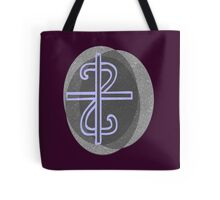 Christian Cross on Textured Background Tote Bag