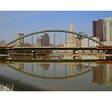 New Main Street Bridge Reflected Photographic Print