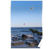 Windy Day in Ocean City Poster