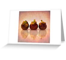 Purple Mangosteen Greeting Card