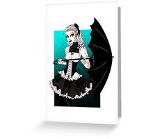 Gothic Lolita Greeting Card