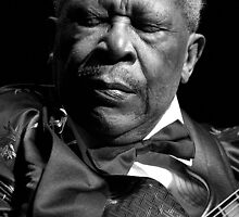 BB King Eyes Closed by John Rocklin
