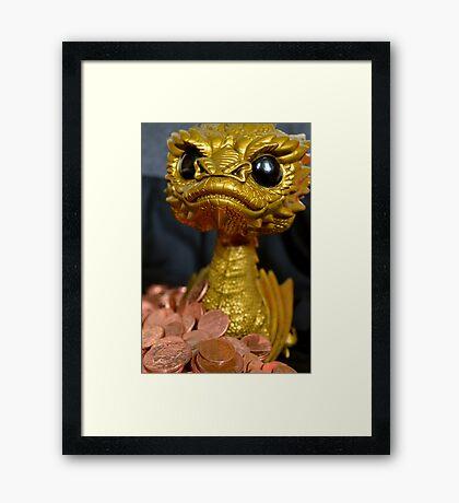 Golden Smaug Funko Pop  Framed Print