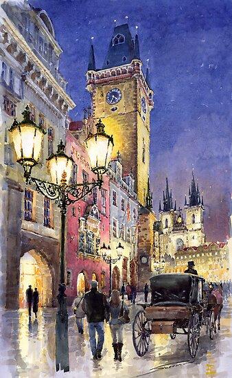 Prague Old Town Square 3 by Yuriy Shevchuk