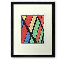 Abstract Color pencil Rendering Framed Print