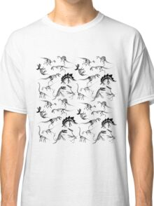 Dinosaur Skeleton Diagrams Classic T-Shirt