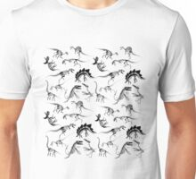 Dinosaur Skeleton Diagrams Unisex T-Shirt