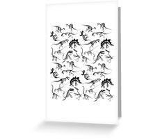 Dinosaur Skeleton Diagrams Greeting Card