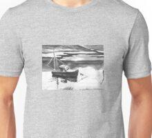 Little Boat Black & White Unisex T-Shirt