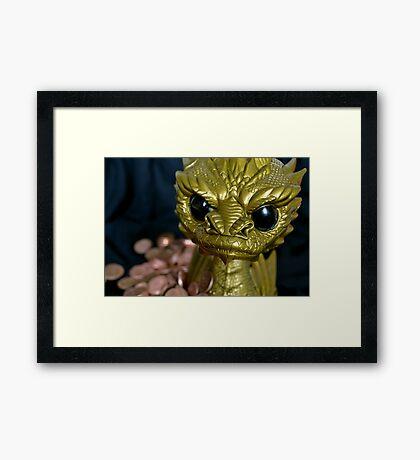 Smaug The Tyranipop Framed Print