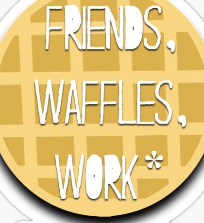Friends, Waffles, Work Sticker