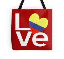 White Red Colombia LOVE Tote Bag
