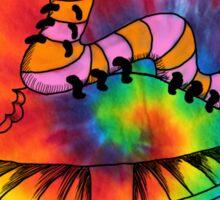Happy Hippy Caterpillar Sticker