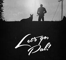 "FALLOUT 4 - ""Let's go Pal!"" Minimal Silhouette design by doughballdesign"