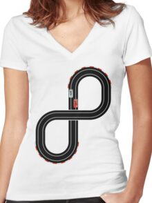 Slots Women's Fitted V-Neck T-Shirt