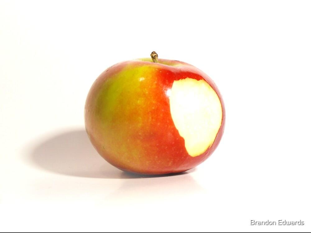 Isolated Bitten Apple by Brandon Edwards