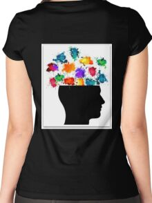 Open Minded  Women's Fitted Scoop T-Shirt