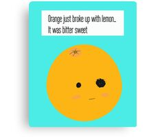 Bittersweet breakup Canvas Print