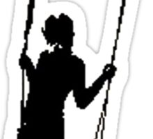 Pixel Swing Sticker