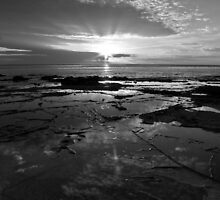Breaking Dawn - Lorne, Victoria B&W by Anthony Evans