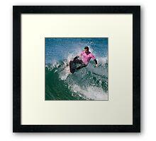 Drop Knee Body boarder Framed Print