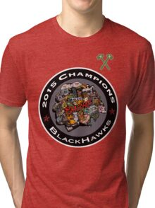 Chicago Blackhawks Logo Tri-blend T-Shirt