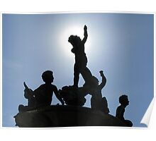 Heffelfinger Fountain Eclipse Poster