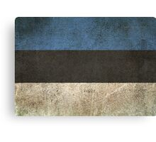Old and Worn Distressed Vintage Flag of Estonia Canvas Print