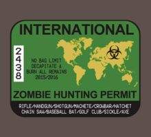 International Zombie Hunting Permit by zorpzorp