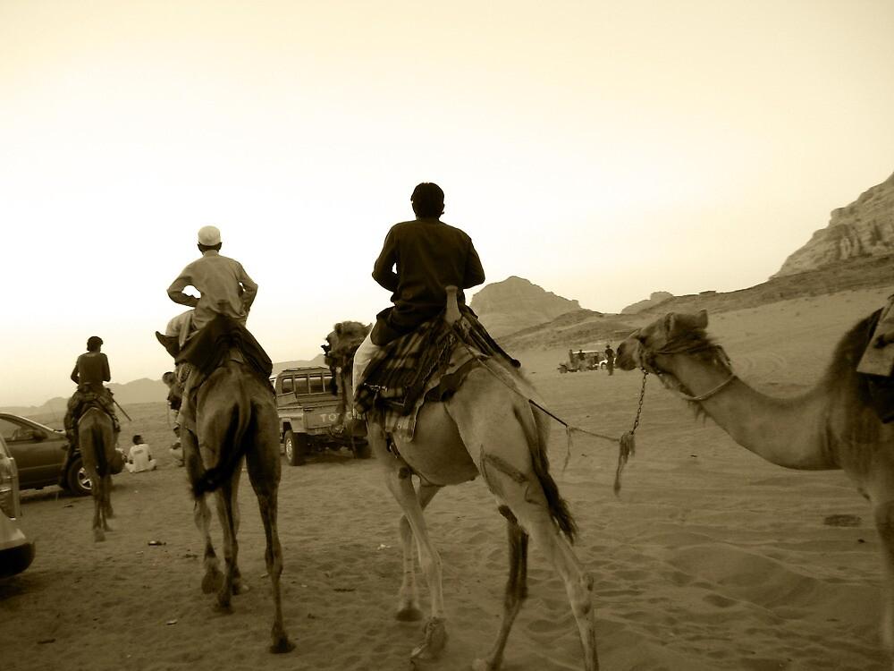 Rush Hour in the Desert - Wadi Rum, Jordan by bengranlund
