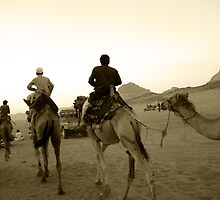Rush Hour in the Desert - Wadi Rum, Jordan by bengranlund