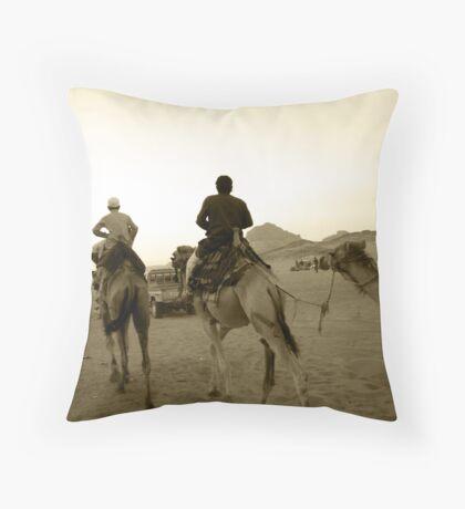 Rush Hour in the Desert - Wadi Rum, Jordan Throw Pillow