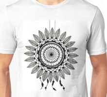 Black and White Dreamcatcher Unisex T-Shirt