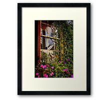 Window Floral Framed Print