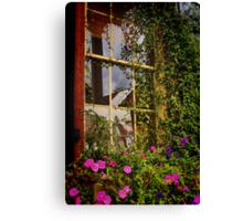 Window Floral Canvas Print