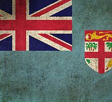 Old and Worn Distressed Vintage Flag of Fiji by Jeff Bartels