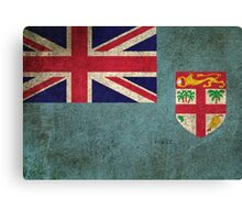 Old and Worn Distressed Vintage Flag of Fiji Canvas Print