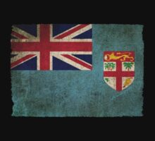 Old and Worn Distressed Vintage Flag of Fiji Kids Clothes