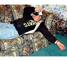 My Husband After The Super Bowl Party Photographic Print