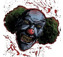 Evil Clown Photographic Print